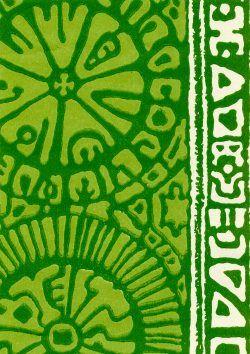 Inka-tapetti herkullisen vihreänä. Olisko sitten vihreä kaapin ovi allaskaappiin...?