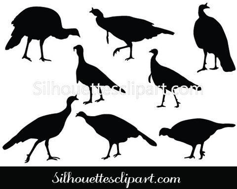 Wild Turkey Silhouette Vector