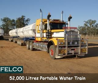 #Felco as a Darlington Transport Qld - 52,000 litre #Potable #Water road train. http://goo.gl/15Pbn1