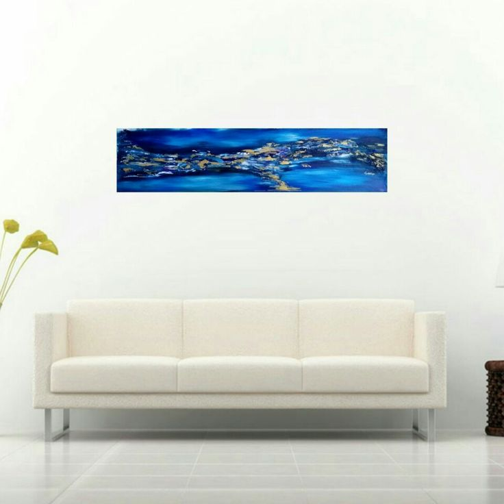 Acrylic painting on canvas sheet. 25cm / 100cm. Painting for sale