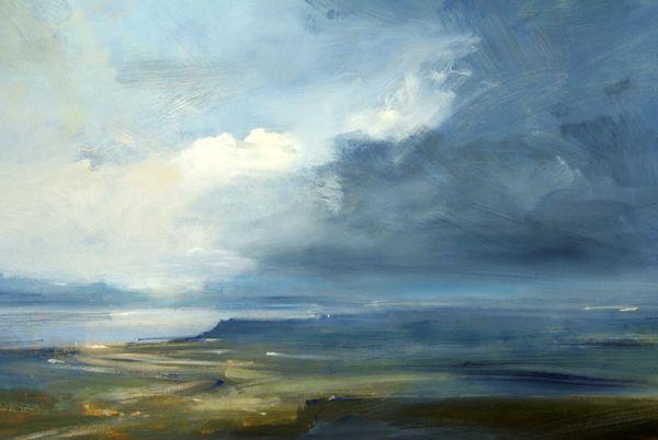 Headland, Skye - Oil on Board - Zarina Stewart-Clark, Landscape Artist