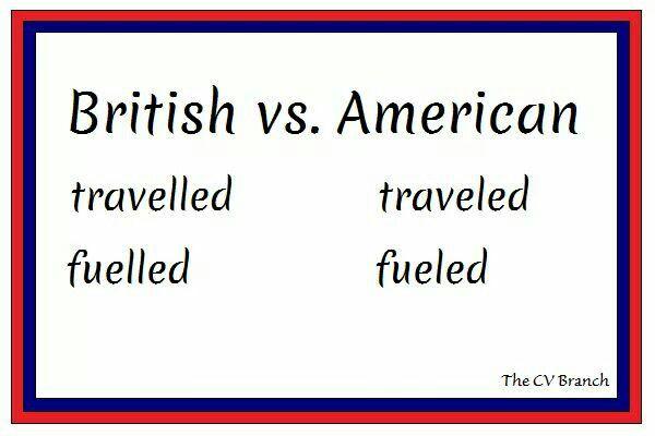 British vs. American spelling  #TheCVBranch #professionalCVwriting #editor