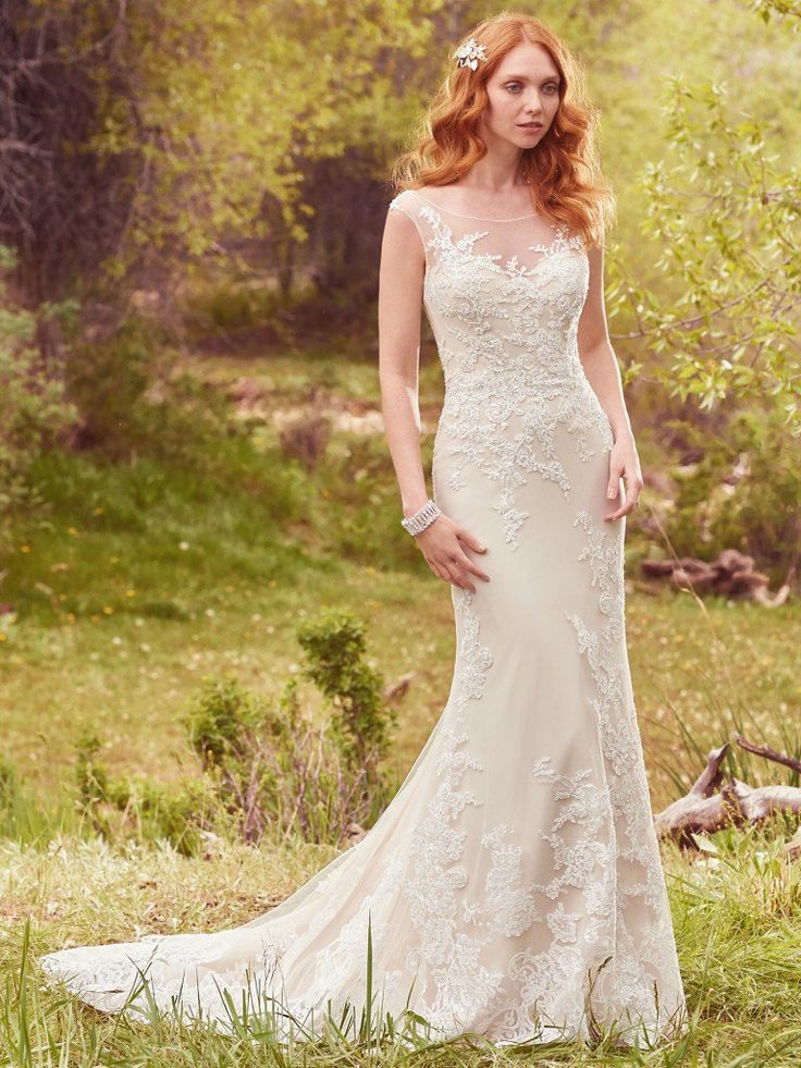 Mermaid Wedding Dresses Kent : Perfect wedding dress mermaid gown covered buttons gowns