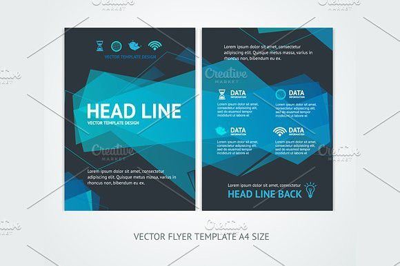 Flyer Design Templates Abstract Wave #flyer #template