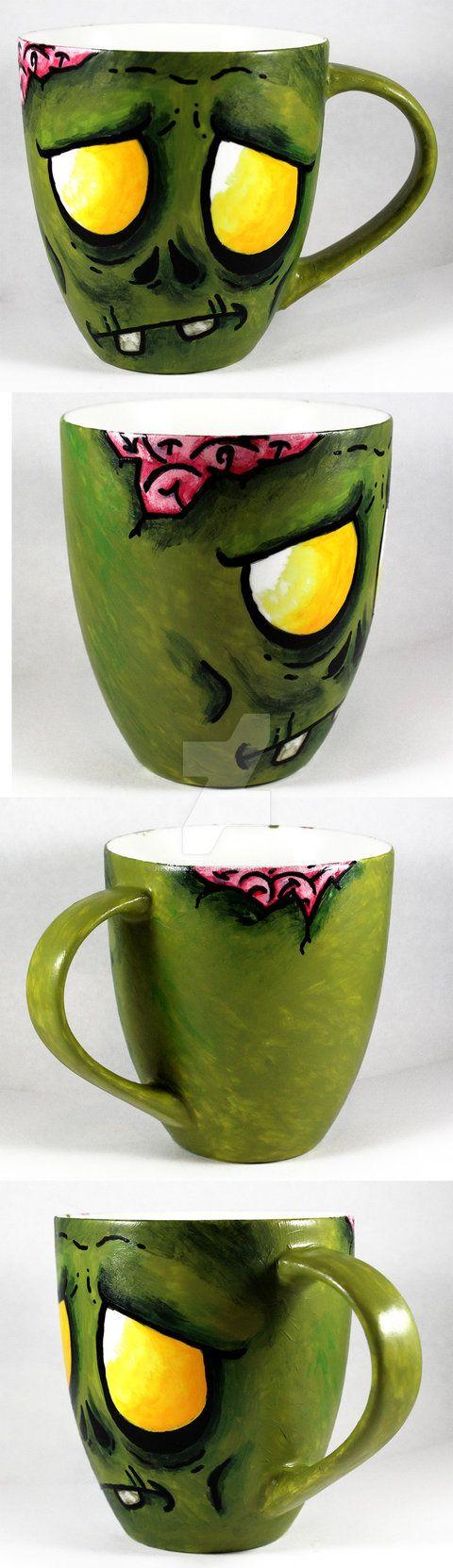 Handpainted Zombie Mug