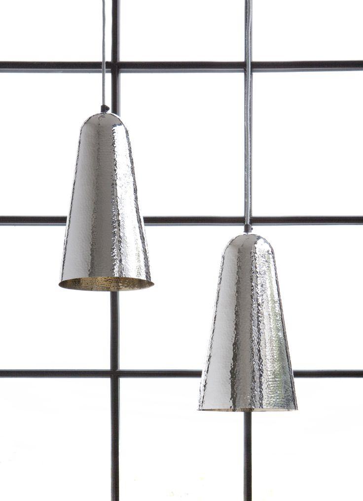 Aesthetic hammered chrome by Lisbeth Dahl Copenhagen. Spring/Summer 2014. #LisbethDahlCph #dustandsparkle #pendant #lamp