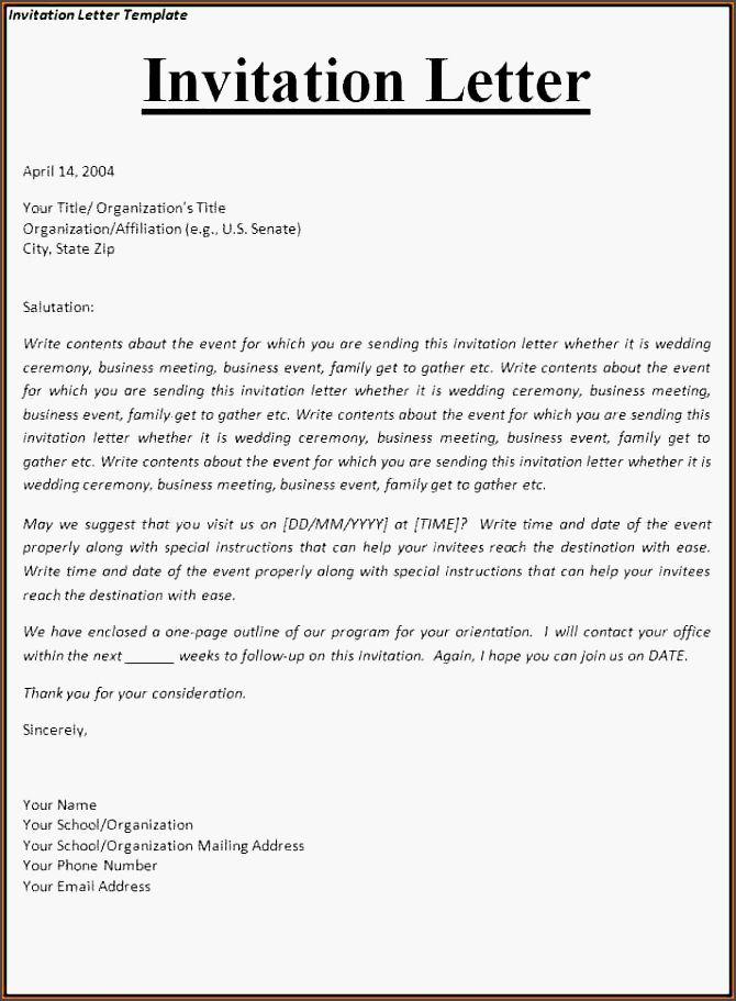 Invitation Letter Informal Nskuc Awesome 8 Invitation Letter Informal Bud Template Letter