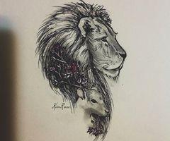 Lion And Lamb Tattoo Google Search Tattoos At Repinnednet
