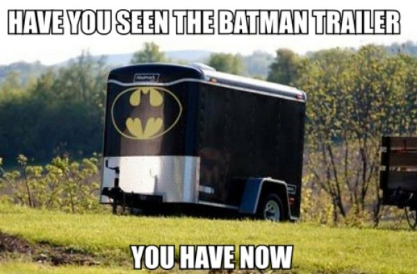The Latest Batman trailer. Eh, it's really going downhill.. batman, trailer, puns