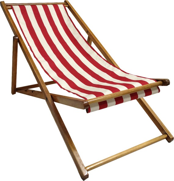 Official 1950s Blackpool Seaside Deckchairs by ...
