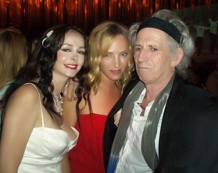 Despina Mirou with Uma Thurman & Keith Richards