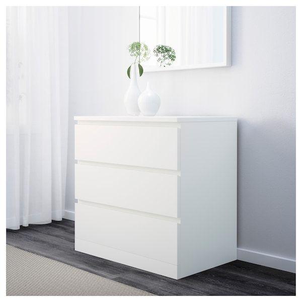 Malm 3 Drawer Chest White 31 1 2x30 3 4 Ikea White Furniture Malm Furniture