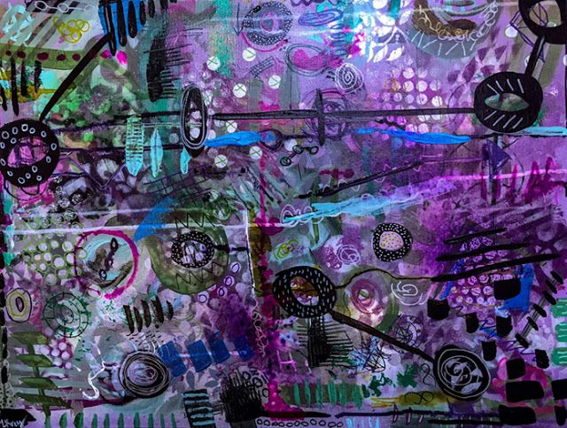"Where ART Lives Gallery Artists Group Blog: ""#dreamers"" Original Modern Contemporary Mixed Media Political Abstract Painting Art by Lisa McKinney Kreymborg"