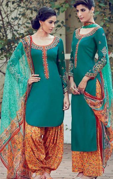 Smashing Emerald Cotton Salwar Kameez
