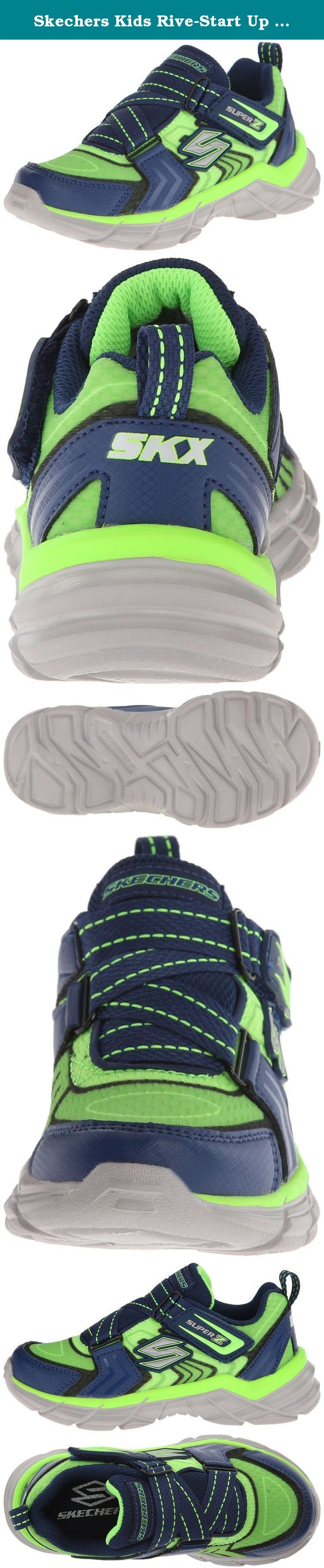 Skechers Kids Rive-Start Up Athletic Sneaker (Little Kid/Big Kid). Synthetic leather and mesh fabric upper in a slip on athletic sporty training sneaker with stitching and overlay accents.
