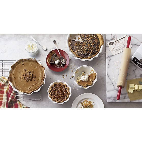 Ruffled Individual Pie Dish in Individual Bakeware | Crate and Barrel