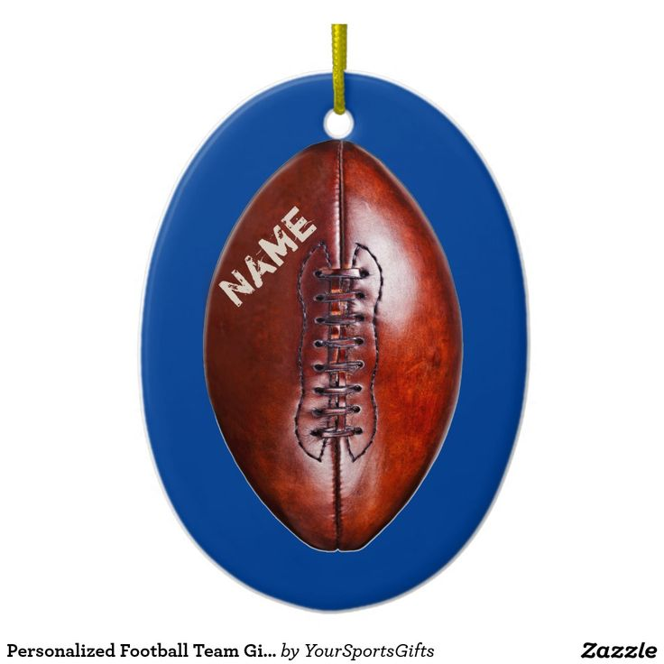 Personalized Football Team Gift Ideas. Type each player's NAME on these Football ORNAMENTS. Change to your Team Colors: http://www.zazzle.com/personalized_football_team_gift_ideas_ornament-175636313089474180?rf=238012603407381242  More personalized football gift ideas HERE: http://www.zazzle.com/yoursportsgifts/gifts?cg=196692834092891705 CALL Rod or Linda for HELP or Changes: 239-949-9090