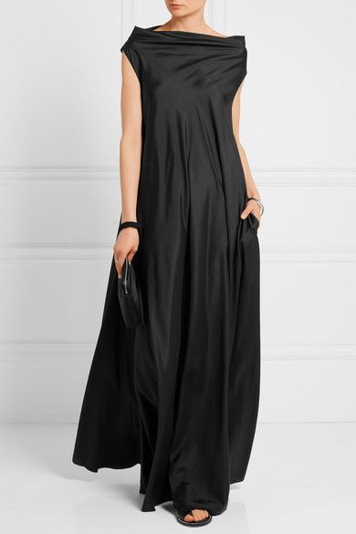 The Row | Gen draped silk gown | NET-A-PORTER.COM