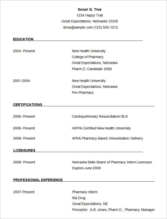 Microsoft Word Resume Template 49 Free Samples Examples Resume