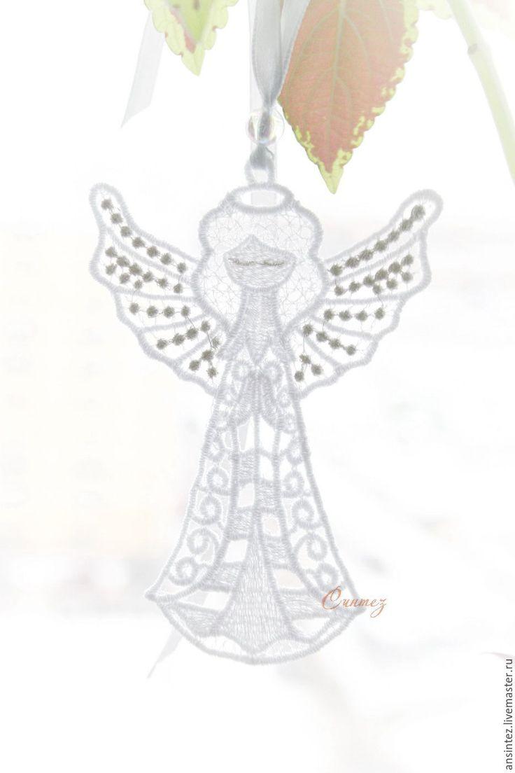 Купить Ангел на счастье с серебряными крыльями подвеска для мобиля игрушка - Ангел хранитель, ангелочек вышитый