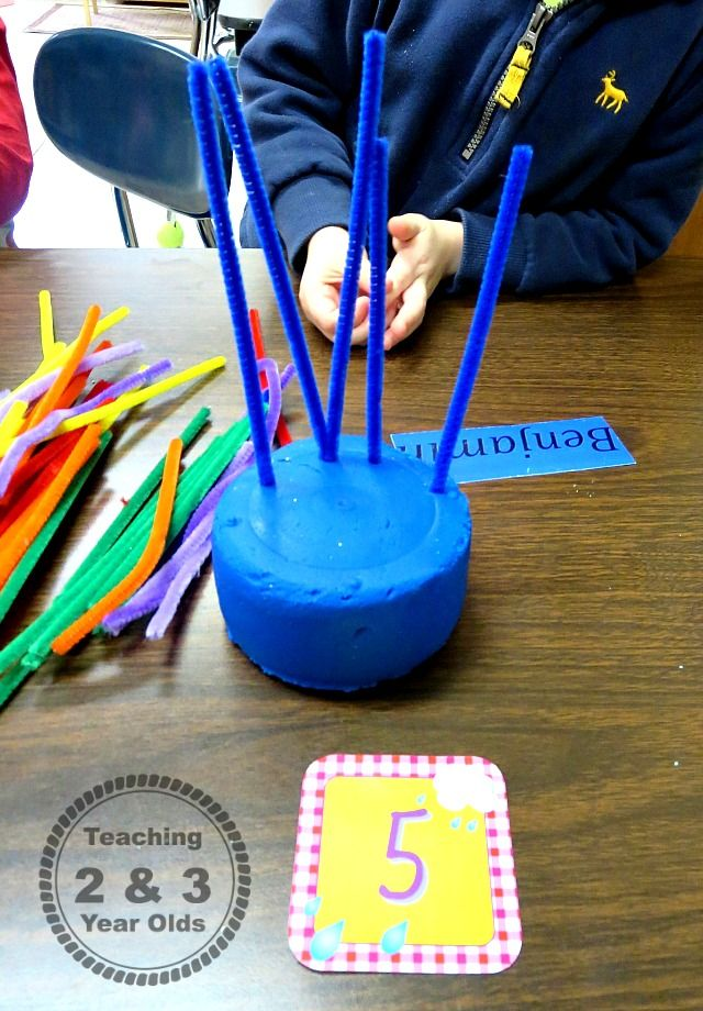 Small Groups In Preschool Color And Number Recognition