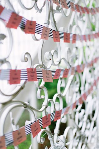 Preppy escort cards | Jenna Henderson Photography | see more on: http://burnettsboards.com/2015/04/preppy-summer-garden-wedding/