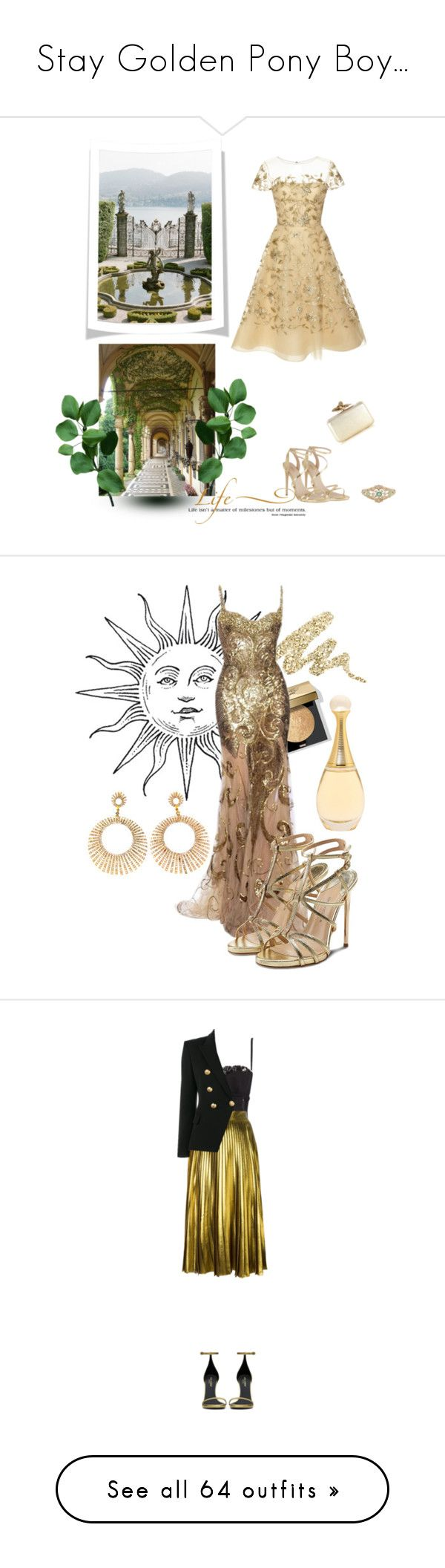 """Stay Golden Pony Boy..."" by mrs-snow ❤ liked on Polyvore featuring Oscar de la Renta, Carvela, WALL, Karen Millen, Urban Decay, Bobbi Brown Cosmetics, Bensimon, Paul Andrew, Christian Dior and Dolce&Gabbana"