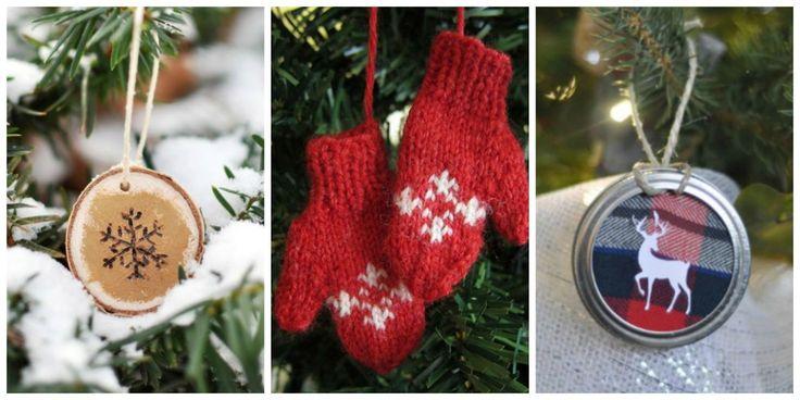 48 Easy and Homemade Christmas Ornaments  - CountryLiving.com
