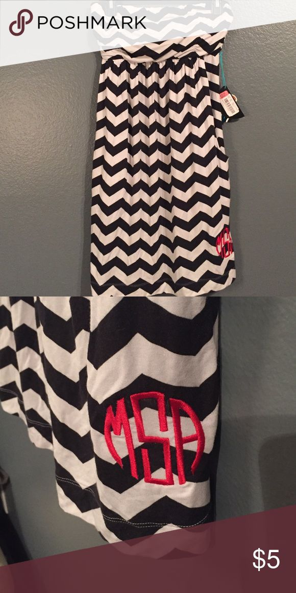 Chevron Bathing Suit Coverup Chevron bathing suit coverup. It's NWT & has pockets. Was monogrammed at the bottom of coverup. Swim Coverups