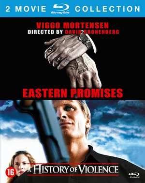 """History Of Violence/Eastern Promises  - History of violence: Tom Stall (Viggo Mortensen) leidt een rustig leventje met zijn echtgenote Edie (Maria Bello) en hun twee kinderen in een klein Amerikaans stadje. Een onverwacht en bloederig incident zet hem plotseling in de schijnwerpers als held. Door zijn verschijning in de media menen enkele uiterst dubieuze types (waaronder Ed Harris) Tom te herkennen als hun oud collega's en """"partner in crime"""" die jaren geleden ineens spoorloos verdween. Tom…"""