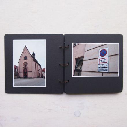 Album mediano negro con interior kraft, para recuerdos. A la venta en: www.mrwonderfulshop.es #album #scrapbooking #DIY