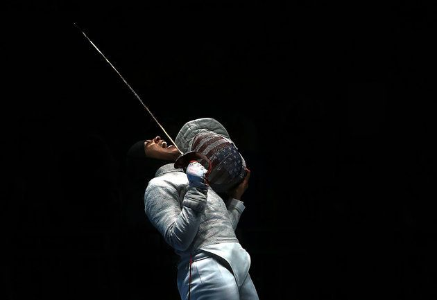 fuckyesjanet:     People have misconceptions about Muslims I want to challenge those misconceptions - Ibtihaj Muhammad  Ibithah Muhammad becomes the first US Olympian to win an Olympic Medal wearing a hijab. Muhammad and her team-mates took out Bronze in the Womens Team Sabre Fencing #Rio2016