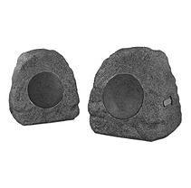 Innovative Technology Wireless Waterproof 10 Watt Rechargeable Bluetooth Outdoor Rock Speakers - Gray