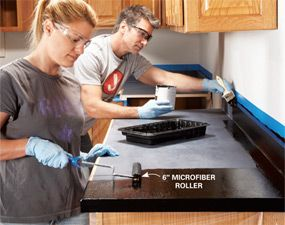 Transform an old laminate countertop