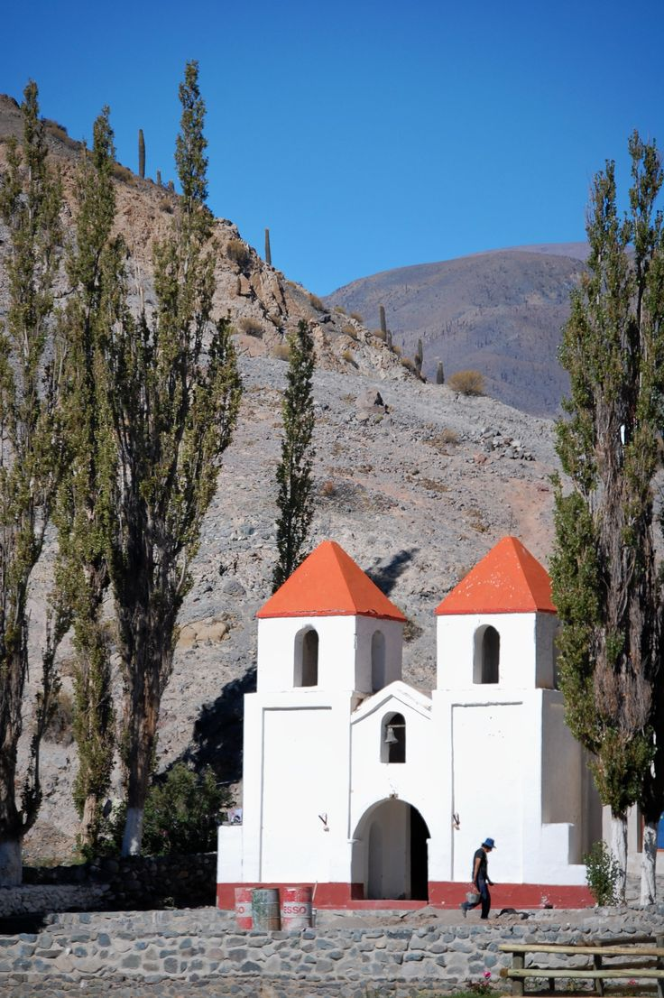 Church on the way to Salinas Grandes, Northwest Argentina.