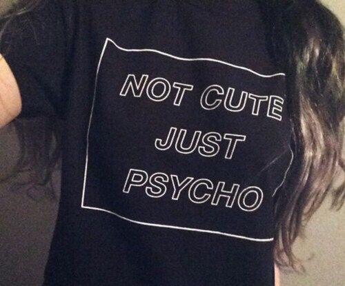 Cool nicht niedlich nur Psycho Tumblr Grunge Style von INSTATEES