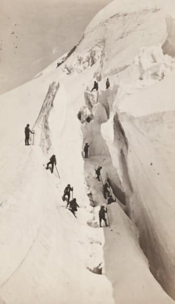 AUGUSTE-ROSALIE BISSON   Auguste-Rosalie Bisson(1826-1900) La crevasse, Savoie, c.1860. Tirage ...
