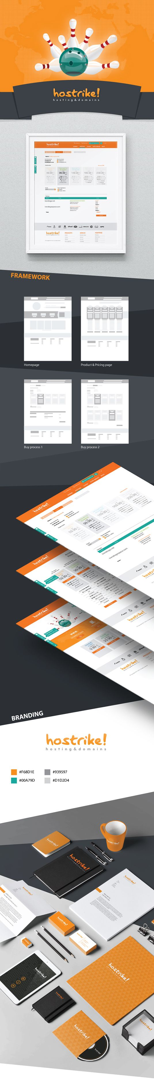 Communication agency Simpliza create the brand identity and website for Hostrike!, hosting and domains provider