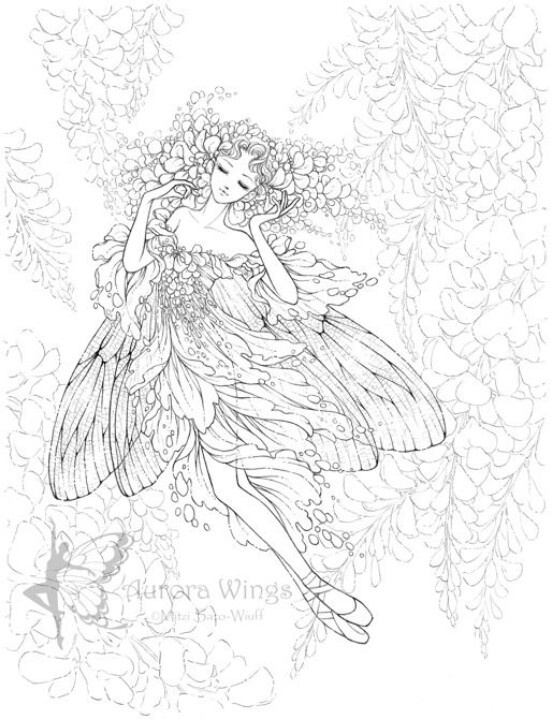 free advanced fairy coloring pages - photo#43