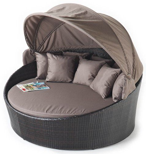 Port Royal Luxe Rattan Daybed, Brown, with Canopy Port Royal http://www.amazon.co.uk/dp/B007FQEYBI/ref=cm_sw_r_pi_dp_VcYeub104DMRX