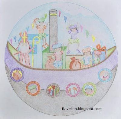 Sintmandala. Leuk om kinderen zelf te laten doen i.p.v. gewoon een mandala inkleuren.