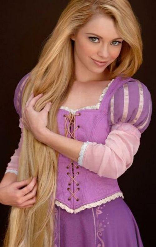 Disney beauties brought to life-Rapunzel: Disney Tangled, Real Life, Real Disney Princesses, The Real, Dresses Up, Rapunzel Cosplay, Long Hair, Disneyprincess, Disney Character