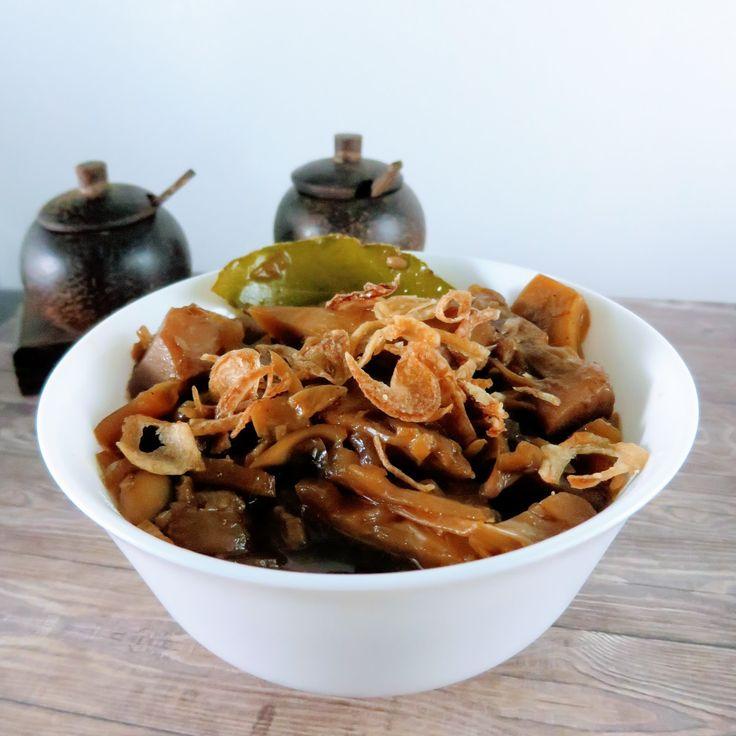 Veganes Jackfrucht Gulasch mit Kecap Manis Gemüse Schmoren Vegan Food #asianfood #asiatisch #exotisch
