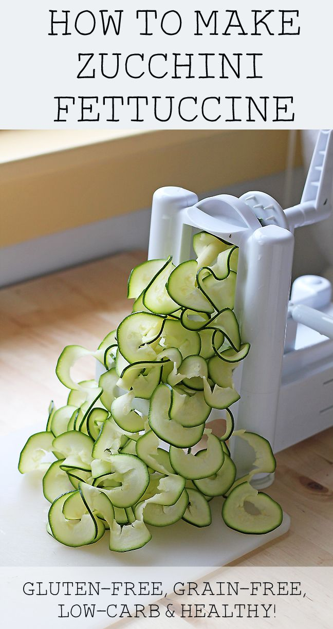 How to Make Zucchini Fettuccine