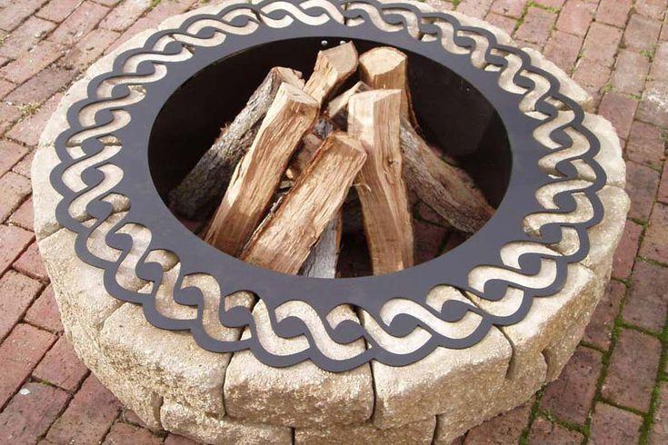 Outdoor Fire Pit Ring Insert | FIREPLACE DESIGN IDEAS