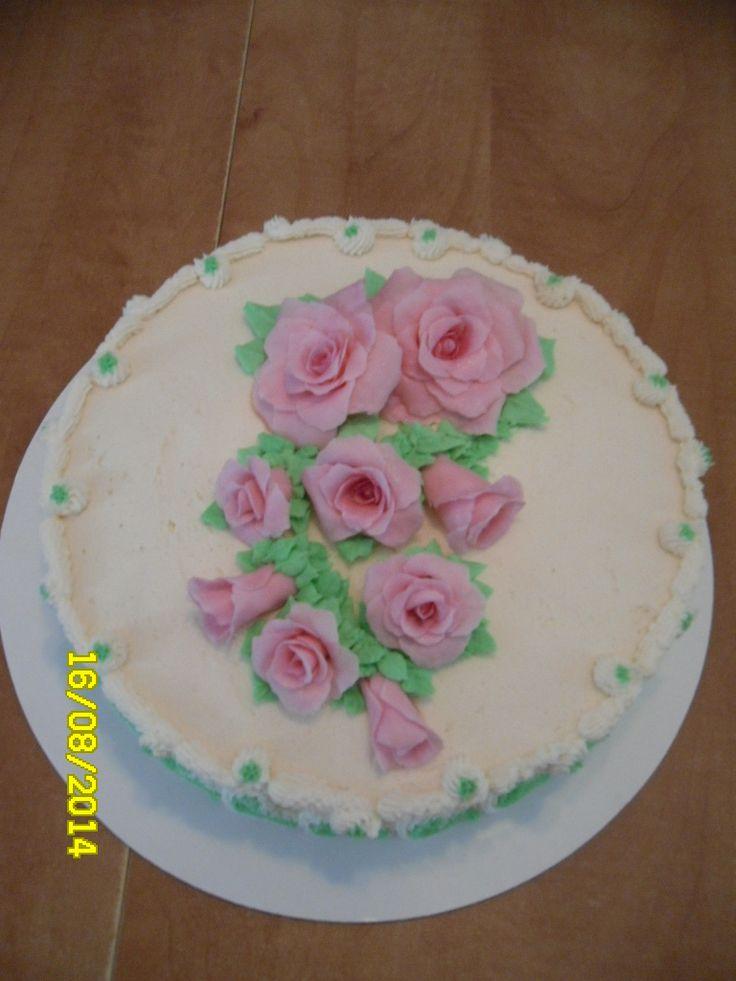 gâteau avec fleures