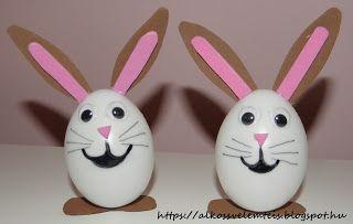 Diy easter bunny eggs. Húsvéti nyuszi tojásból.