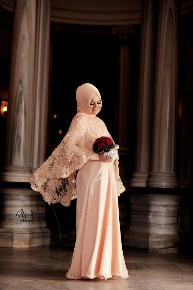www.mervedagli.com ♥ Simple Muslimah wedding dress & hijab style