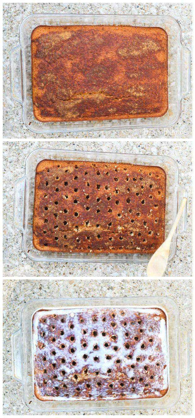 Churro Tres Leches Cinnamon Poke Cake