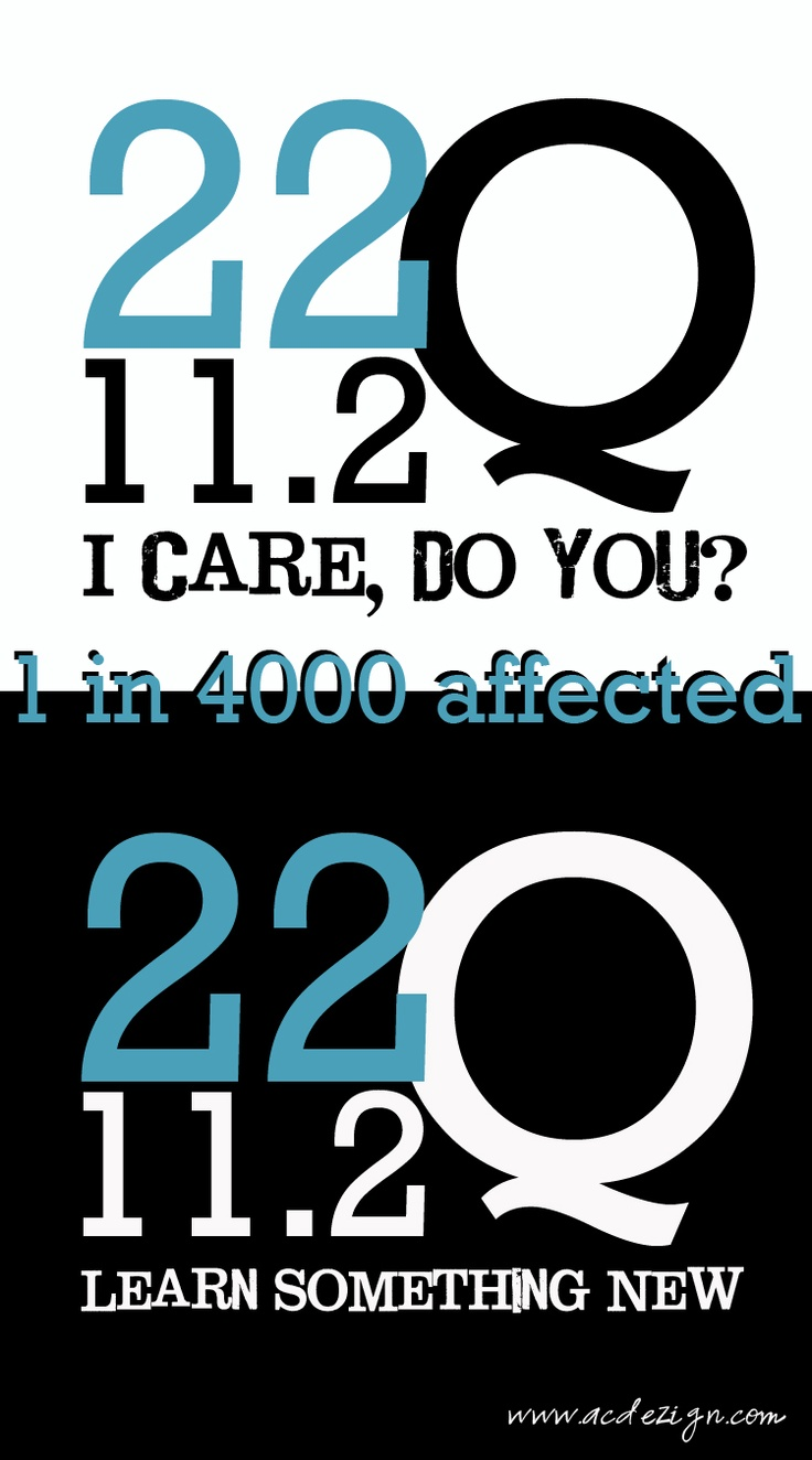 If you love someone with 22Q or know someone who does, re-pin and spread awareness!